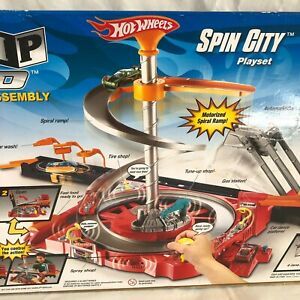 HOT WHEELS 🔥Flip n Go Spin City Motorised Playset *Complete With Original Box