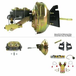 "73-87 Chevy Truck FW Mount Power 11"" Single Brake Booster Kit Disc/Disc 350 SBC"