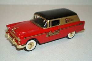Indian Motorcycles Liberty 1955 Chevrolet Diecast Coin Bank CCTP035