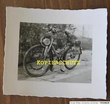 Vecchia fotografia Oldtimer Moto/MOTORE-bicicletta anni 30/40 gettate