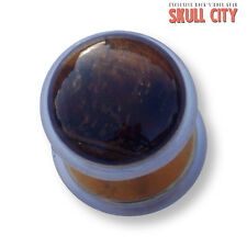 TIGER EYE ORO Gemstone Fakeplug-Fake piercing Stone plug orecchini occhio Ear