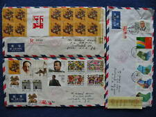 P.R China 1988 Shanghai to US 9 Registered Covers
