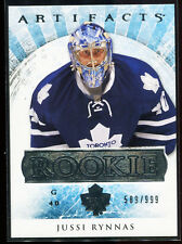 2012-13 Artifacts 198 Jussi Rynnas Rookie 589/999