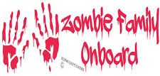 ZOMBIE HANDS FUNNY FAMILY STICKER ZOMBIE FAMILY ONBOARD CAR BUMPER STICKER