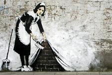 canvas painting BANKSY Graffiti Street Art Wall Decor A1 SIZE PRINT