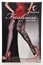 Fishnet Pantyhose Sexy Punk Rock Black Rose Diva Style Women Fashion