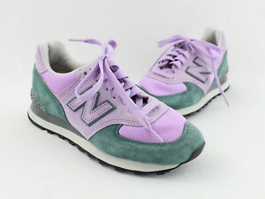 New Balance NWOB Lavender Teal Suede Synthetic Lace Up Sneaker Shoe Size 8