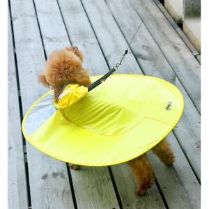 Fashion Dog Raincoat Adjustable UFO Shape Dog Raincoat Slicker Rain Jacket