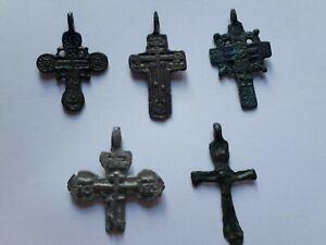 5 Post Medieval orthodox crosses.