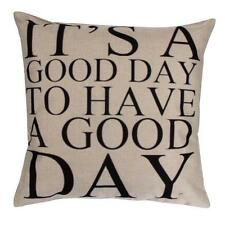 Vintage Words Pillow Case Linen Sofa Waist Throw Cushion Cover Car Home Decor UK