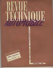 (35B)REVUE TECHNIQUE AUTOMOBILE OPEL OLYMPIA / Boîte WILSON T.10 / JAEGER/VALLÉE