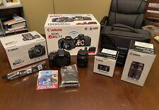 Canon EOS Rebel T7 DSLR Premium Kit + Extra Lens and Memory Card *MINT*