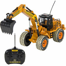 RC Excavator Tractor Digger Construction Truck Remote Control Battery Electric 6