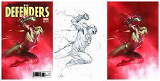 DEFENDERS #1 Dell'Otto Colour Sketch Virgin Variant Set Marvel 1st Print New NM