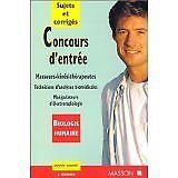 Gassier - Concours d'entrée. Ecoles de masseurs-kinésithérapeute - 1998 - Broché