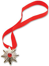 DRACULA VAMPIRO STAR Medallion HALLOWEEN FANCY DRESS ACCESSORIO GIOIELLI NUOVO