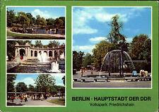 BERLIN Ost DDR Mehrbildkarte 1981 Friedrichshain Volkspark Park Anlage color AK