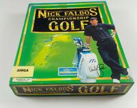 Nick Faldo's Championship Golf Commodore Amiga Spiel Big Box OVP VGC CIB Boxed