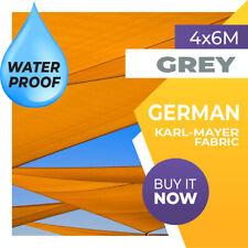 WATERPROOF SHADE SAIL RECTANGLE GREY 4mx6m 6mx4m 6m x 4m SUN 4x6 6x4 6x4m 6 x 4