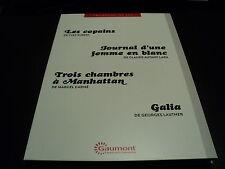 LES COPAINS / JOURNAL D'UNE FEMME EN BLANC / TROIS CHAMBRES A MANHATTAN / GALIA