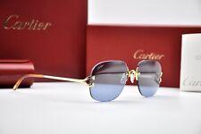 New listing Cartier Rimless Decor C Small Eyeglasses sunglasses Gold Frame Vintage New Brill
