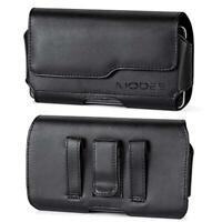 Black Premium Leather Pouch Case For Samsung Galaxy A10/A20/A30/A50/A60/A70/A80