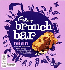 Cadbury Brunch Barra Raisin 3 x 6 Paquete