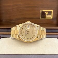 Rolex President Day Date Mens 18248 Bark Bezel Box and Papers Double Quick Set