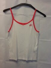 Abercrombie Kids Size 15/16 Pink And White Spaghetti Strap Tank