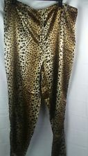 Brown Pajama Pants Animal Print Lounge Pants Womens Size XLarge XL