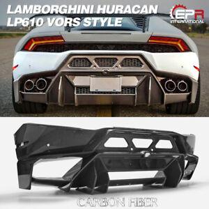 For Lamborghini Huracan LP610 Carbon Fiber Vors Style Wide Rear Bumper Body Kits