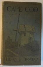 Cape Cod Thoreau c. 1914 Editon Hardcover Illustrated Green Cloth Covers