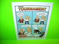 Stern Tournament Pinball System Original Pinball Machine Promo Sales Flyer TOPS