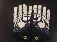 Reebok Football Gloves Blue/White New UA Grip Size 4XL