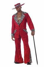 Adult Mens Red Pimp Zebra Halloween Costume Medium (40-42) FREE SHIPPING