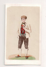 Vintage CDV Handpainted Duchy of Baden Germany Traditional National Costume