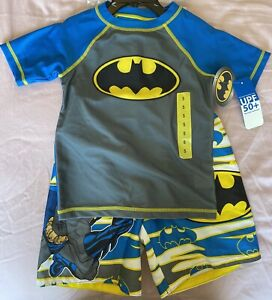 Batman Kids 3Pc Swim Set UPF 50+- Free Shipping-New with Tags!!