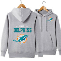 Miami Dolphins Hoodie Casual Sweatshirt Pullover Hooded Coat Gift For Fans