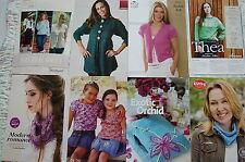 8 Knitting Patterns Bag Cowl Cardigan Jumper King Cole Artesano Patons Knit Now