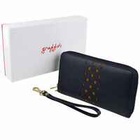 Ladies Quality Continental style Leather Purse Wallet By Golunski Graffiti Colle
