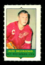 1969-70 OPC O-PEE-CHEE MINI 4 in1 ALEX DELVECCHIO RED WINGS EX-NM STAMP Sticker