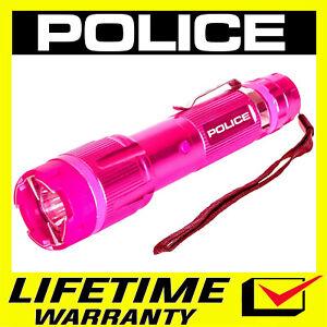 POLICE Stun Gun 1159 650 BV Metal Rechargeable LED Flashlight - PINK