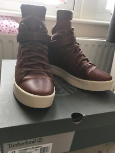Timberland Womens Mayliss Hi Top Boots UK 9 - Brown Leather