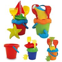 Kids Colourful Plastic Beach Bucket And Spade Set Sandbox Summer Outdoor Toy NEW