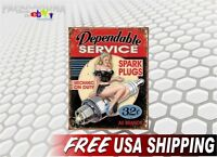 Pin-up Girl SPARK PLUGS Vinyl Graphics Decal Vintage Pin up Retro Sign Sticker