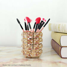 Modern Crystal Makeup Brush Holder Organizer Pen Office Home Container Storage