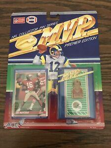 Joe Montana 49ers Mvp Ace Vintage Pin Score Card