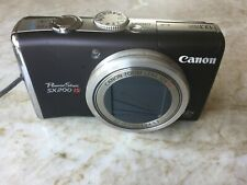 Canon PowerShot SX200IS 12.1MP Digital Camera Black With Charger, Case & Manual