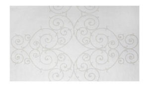 Ironwork Scroll Dado Paintable Texture Architectural Wallpaper    PTD9328