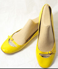 Women's Shoes New J Crew 'Livs' Yellow Patent Leather Flats Skimmers Size 11US